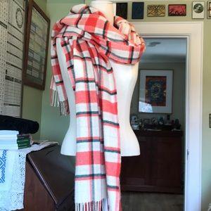 💯 wool plaid scarf